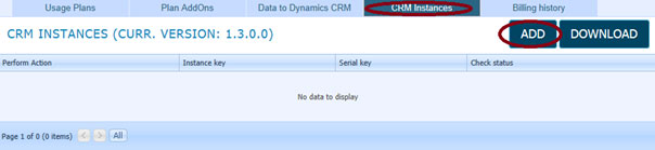 Microsoft CRM integration - CRM Instances