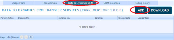 Microsoft CRM integration - Data To CRM